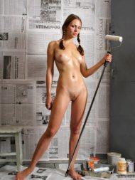 Sexy Imbianchina Nuda